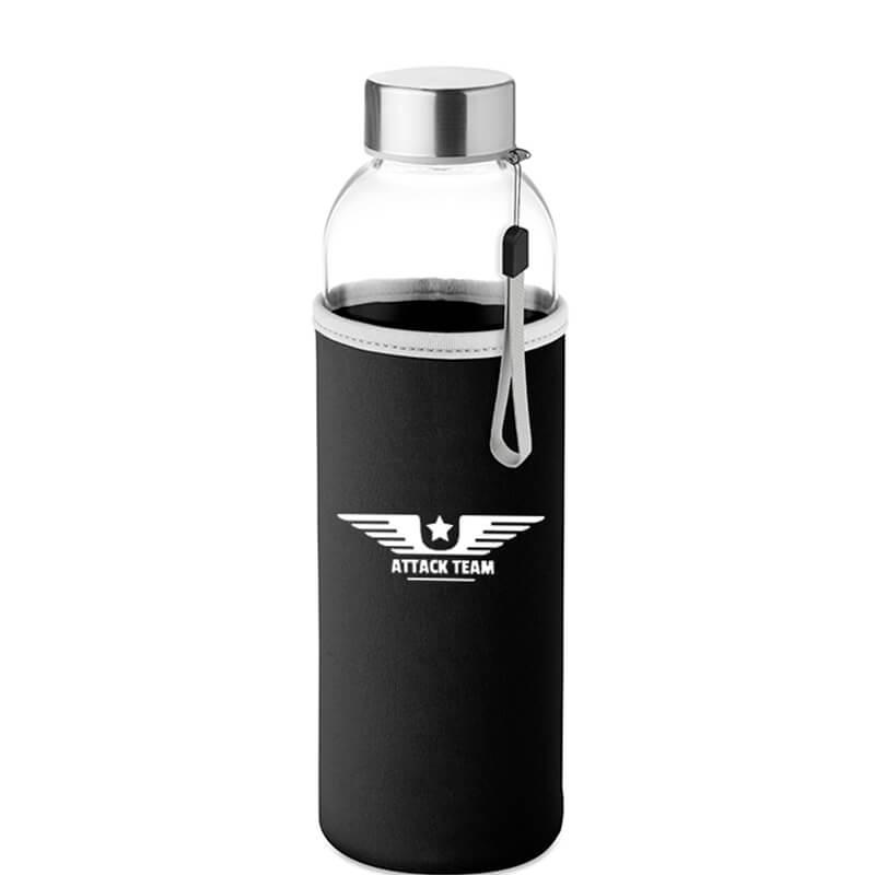 Glazen flessen met neopreen beschermer 500 ml