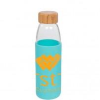 Botellas de vidrio personalizadas con funda de silicona