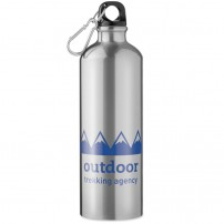 Botellas de aluminio personalizadas con mosquetón para empresas