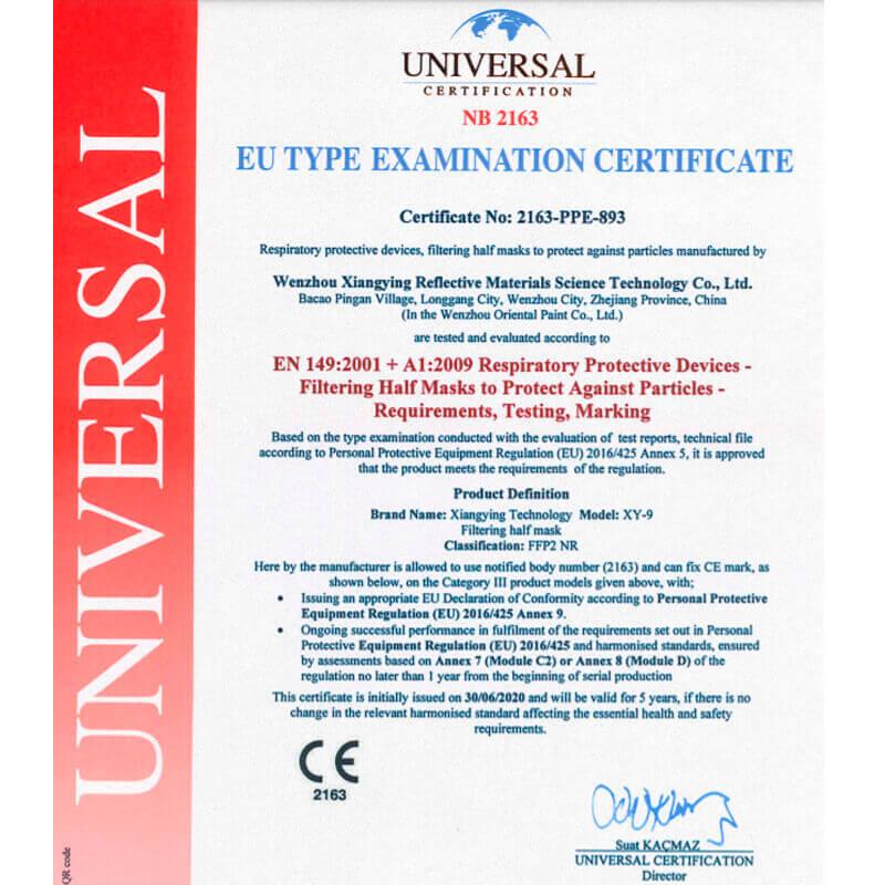 Mondkapjes FFP2 wit (CE-certificering)