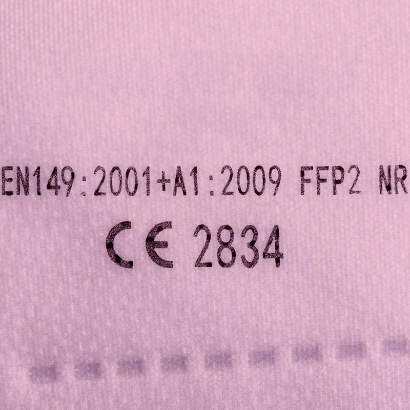 Zelf filterende mondkapjes FFP2 kleuren (CE-certificering)